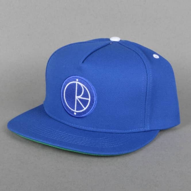 Polar Skateboards Stroke Logo Snapback Cap - Royal Blue/Green