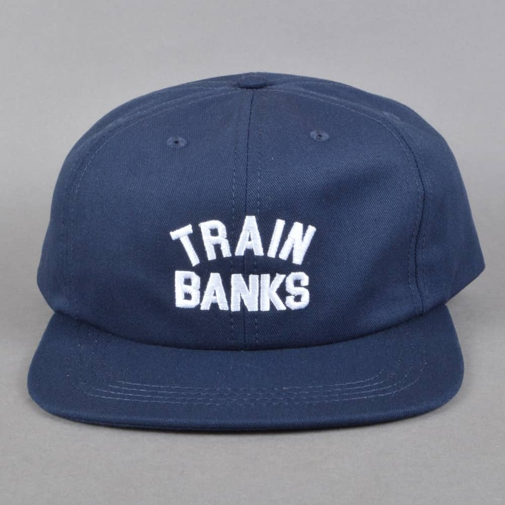 86a20ef402e Polar Skateboards Train Banks Strapback Cap - Navy - SKATE CLOTHING ...