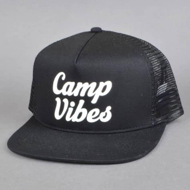 Poler Stuff 70 s Vibes Mesh Trucker Cap - Black - SKATE CLOTHING ... bef110cd773