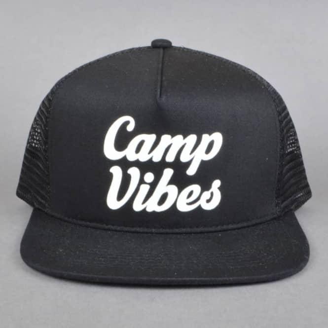 Poler Stuff 70 s Vibes Mesh Trucker Cap - Black - SKATE CLOTHING ... 81345c11fe8