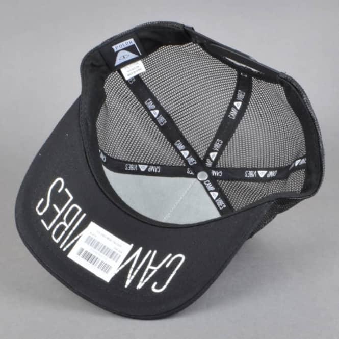 63c5f44cd46 Poler Stuff 70 s Vibes Mesh Trucker Cap - Black - SKATE CLOTHING ...