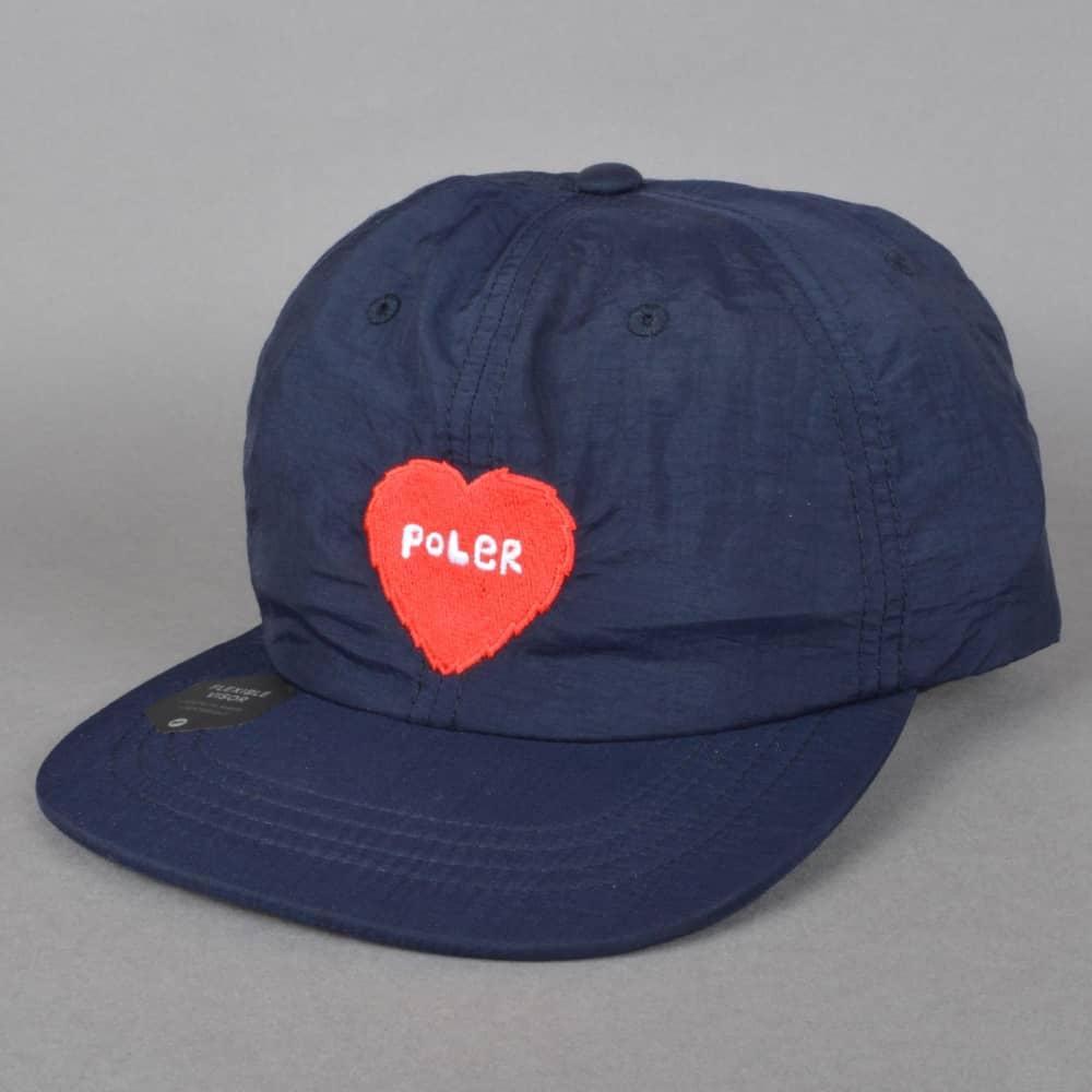 d4afa6c0adc Poler Stuff Furry Heart Nylon Floppy Snapback Cap - Navy - SKATE ...