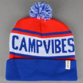 Gas Station Beanie - Royal Blue/Bright Red
