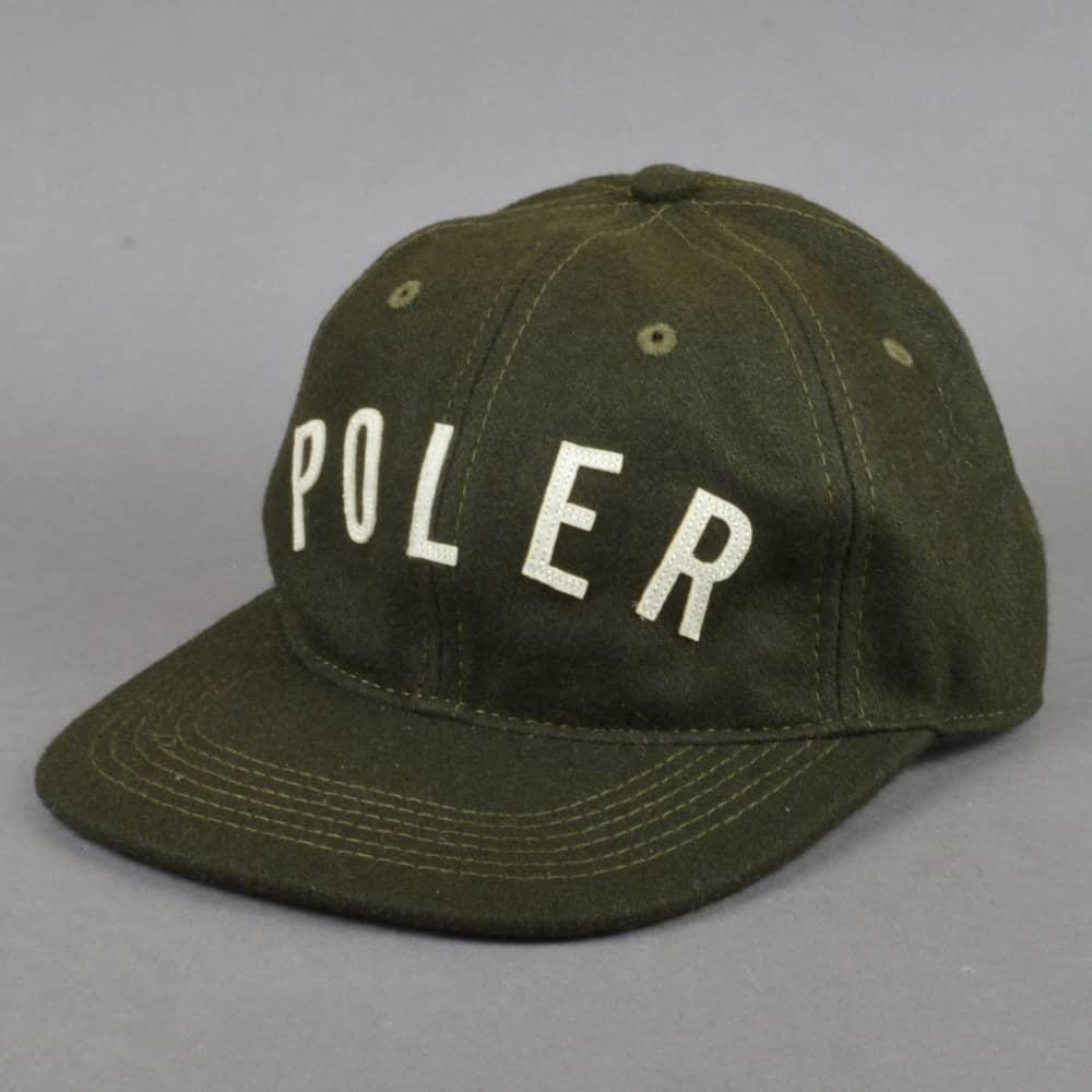 Poler Stuff Ivy State Wool Strapback Cap - Olive - SKATE CLOTHING ... 12672dd9b601