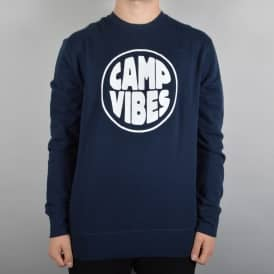 Pop Top Crewneck Sweater - Navy