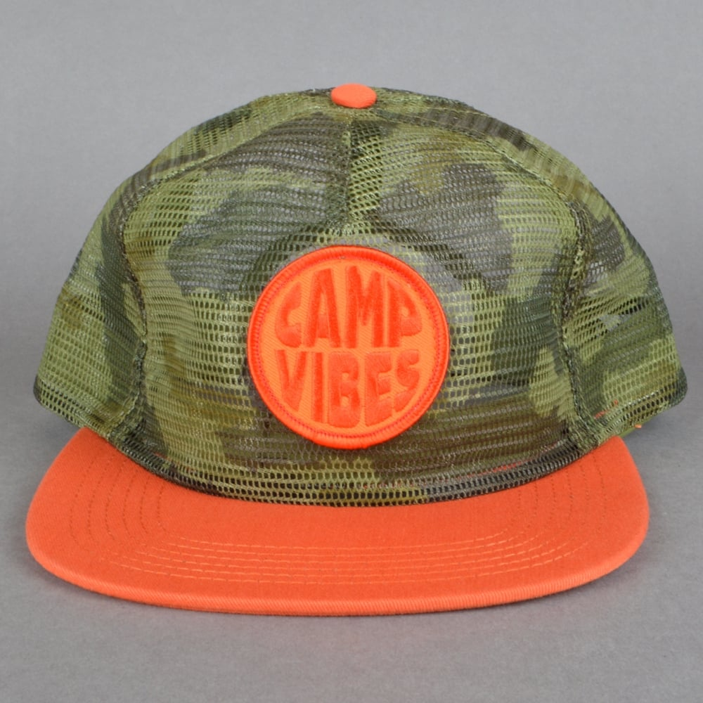 e1070015bf7 Poler stuff pop top full mesh trucker snapback cap fury green camo jpg  1000x1000 Orange camo