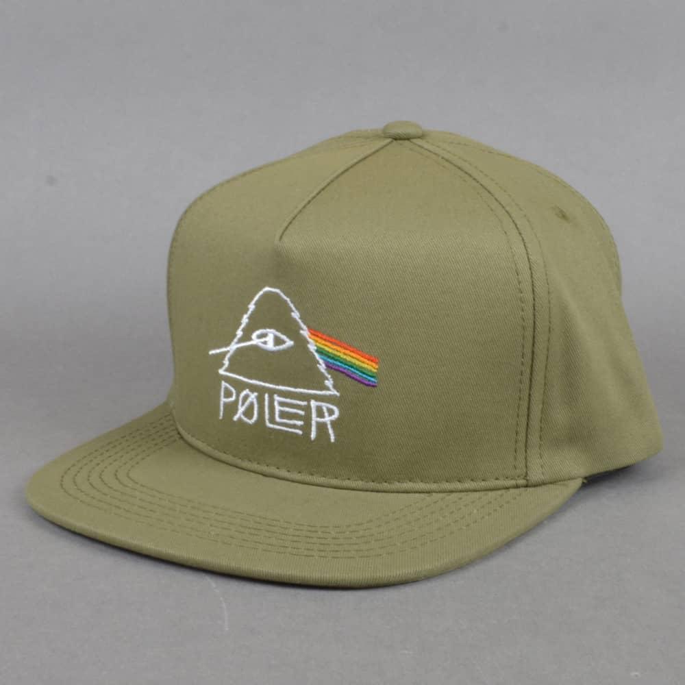 ac5f5c0747af5 Poler Stuff Psychedelic Snapback Cap - Olive - SKATE CLOTHING from ...