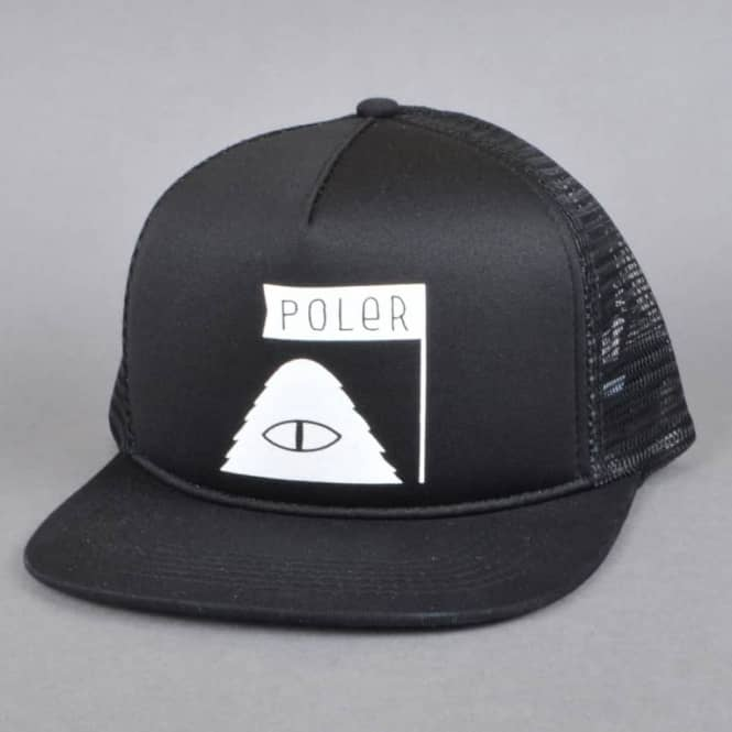 Poler Stuff Summit Mesh Trucker Cap - Black - SKATE CLOTHING from ... 2529490a8694