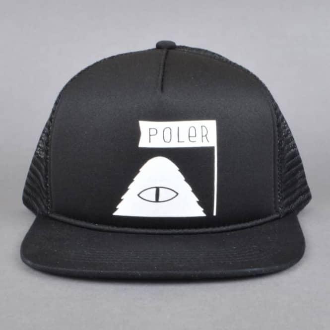 0e9dc91e0a0 Poler Stuff Summit Mesh Trucker Cap - Black - SKATE CLOTHING from ...