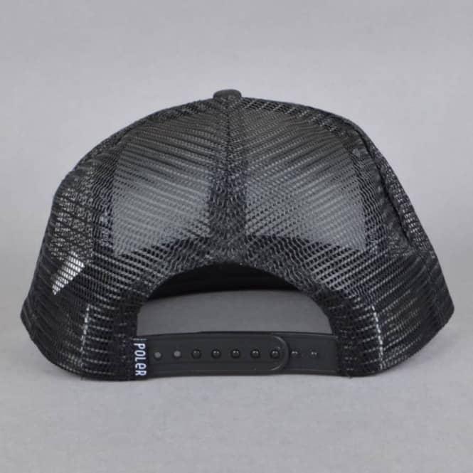 9145d4e7 Poler Stuff Summit Mesh Trucker Cap - Black - SKATE CLOTHING from ...