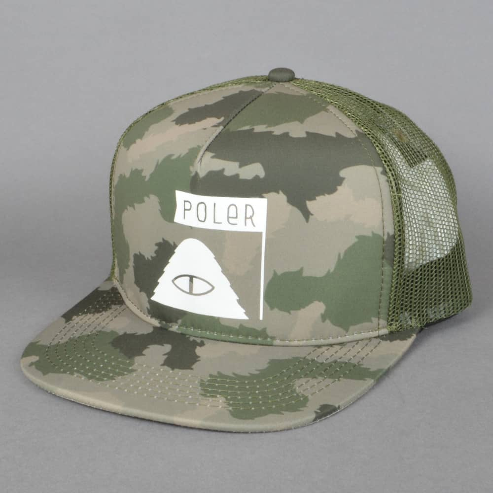 45bc521e282 Poler Stuff Summit Trucker Cap - Green Furry Camo - SKATE CLOTHING ...