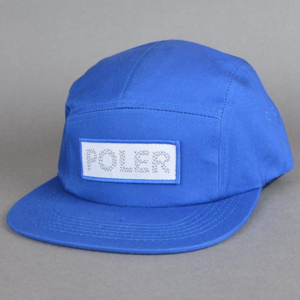 63935417a6c Poler Stuff Tracker Camper 5 Panel Cap - Royal Blue - SKATE CLOTHING ...