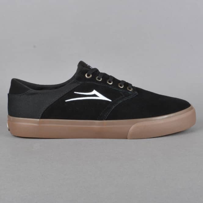 Lakai Porter Skate Shoes - Black/Gum Suede