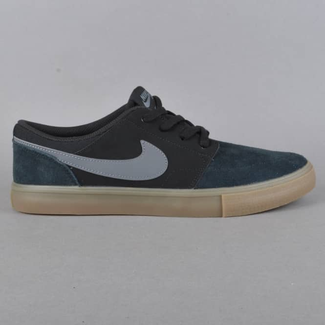 Nike SB Portmore 2 Solar Skate Shoes - Black/Dark Grey