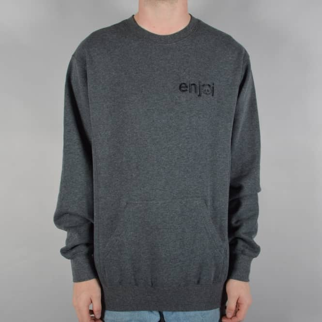 Enjoi Skateboards Pouch Crew Sweater - Charcoal Heather