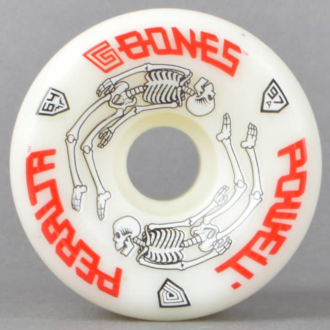 Powell Peralta Powell Peralta G-Bones White 97A Skateboard Wheels 64mm