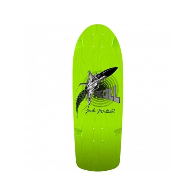 Powell Peralta Mike McGill Jet Green 7th Series Bones Brigade Reissue Skateboard Deck 10.28