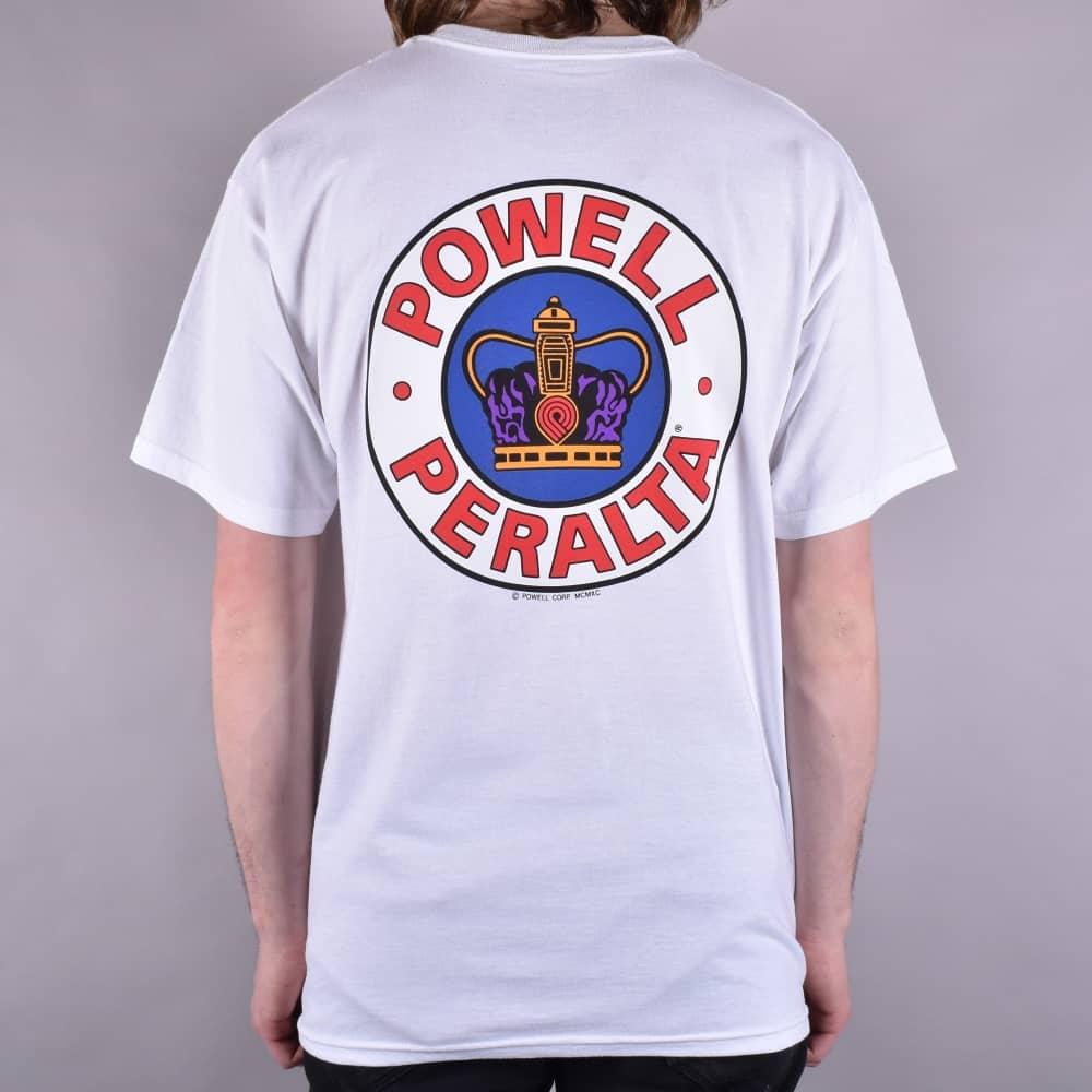55d70494d284 Powell Peralta Supreme Skate T-Shirt - White - SKATE CLOTHING from ...