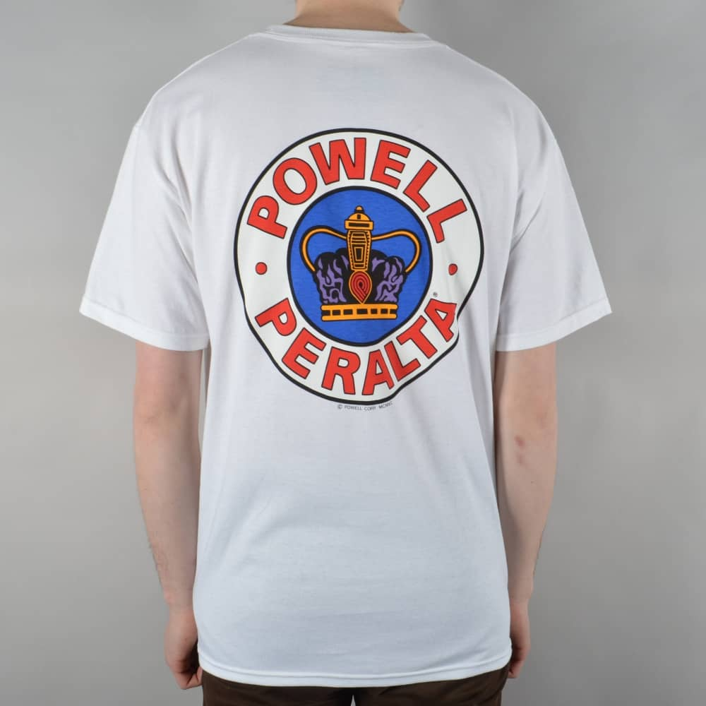 a1178a804769 Powell Peralta Supreme Skate T-Shirt - White - SKATE CLOTHING from ...