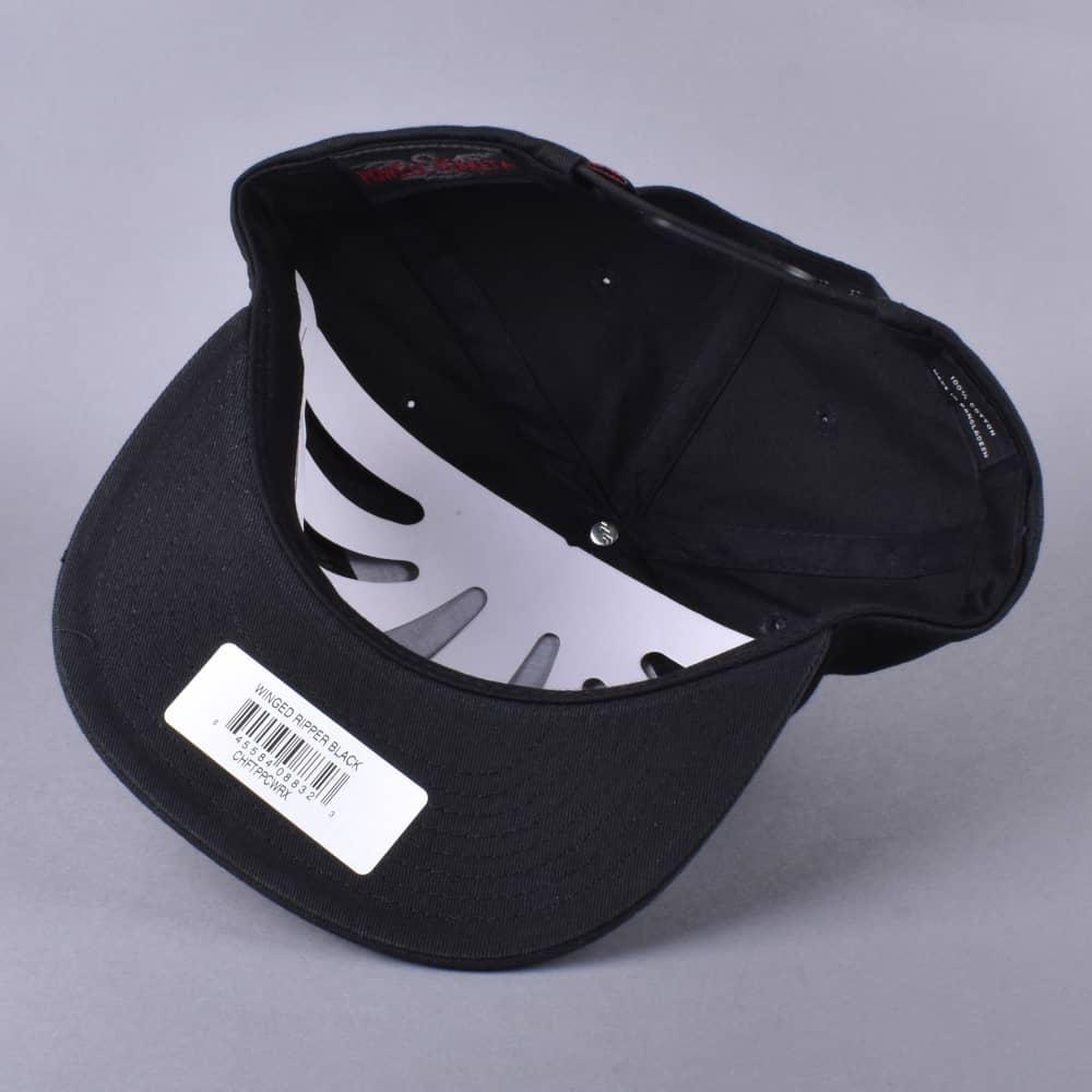 056904e8601 Powell Peralta Winged Ripper Snapback Cap - Black - SKATE CLOTHING ...