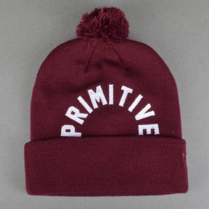 Primitive Apparel Arc Pom Pom Beanie - Burgundy