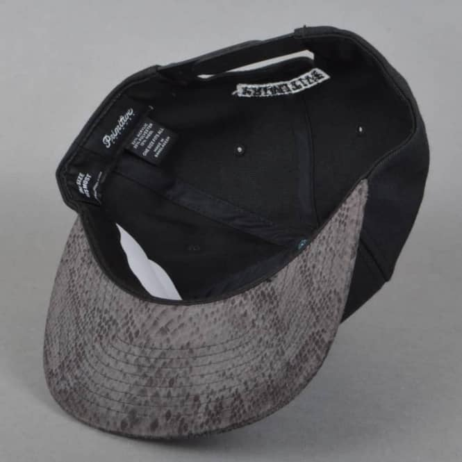 Primitive Apparel Classic P Snake Snapback Cap - Black - SKATE ... ce0ebde765a