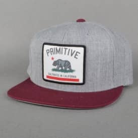 Cultivated Patch Snapback Cap - Heather Grey/Burgundy