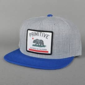 Cultivated Patch Snapback Cap - Heather Grey/Royal Blue