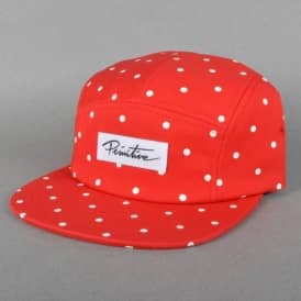 Dots 5 Panel Cap - Red