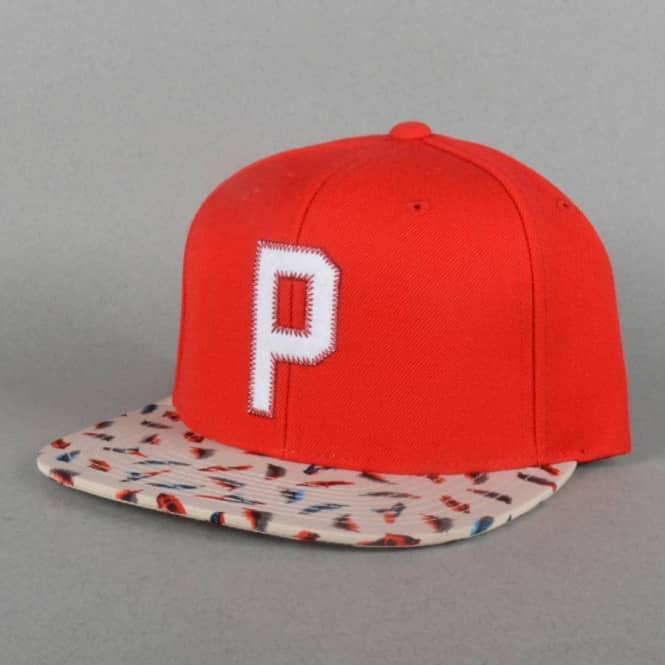 Primitive Apparel Feathers Snapback Cap - Red