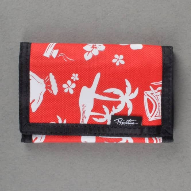 Primitive Apparel Mai Tai Tri-Fold Wallet - Red