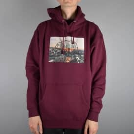 Rooftop Pullover Hooded Top - Burgundy