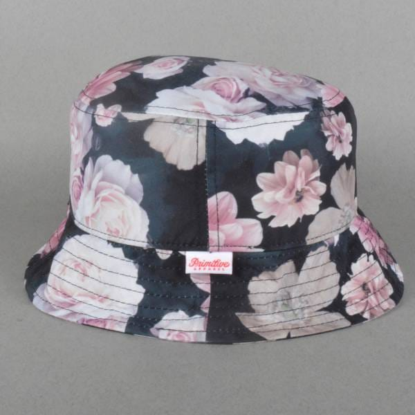 725e8fee19d Primitive Apparel Rose Noir Bucket Hat - Black - SKATE CLOTHING from ...