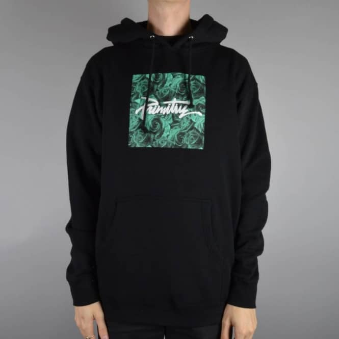 check out 1370f ce62e Thrashed Rosa Pullover Hood - Black