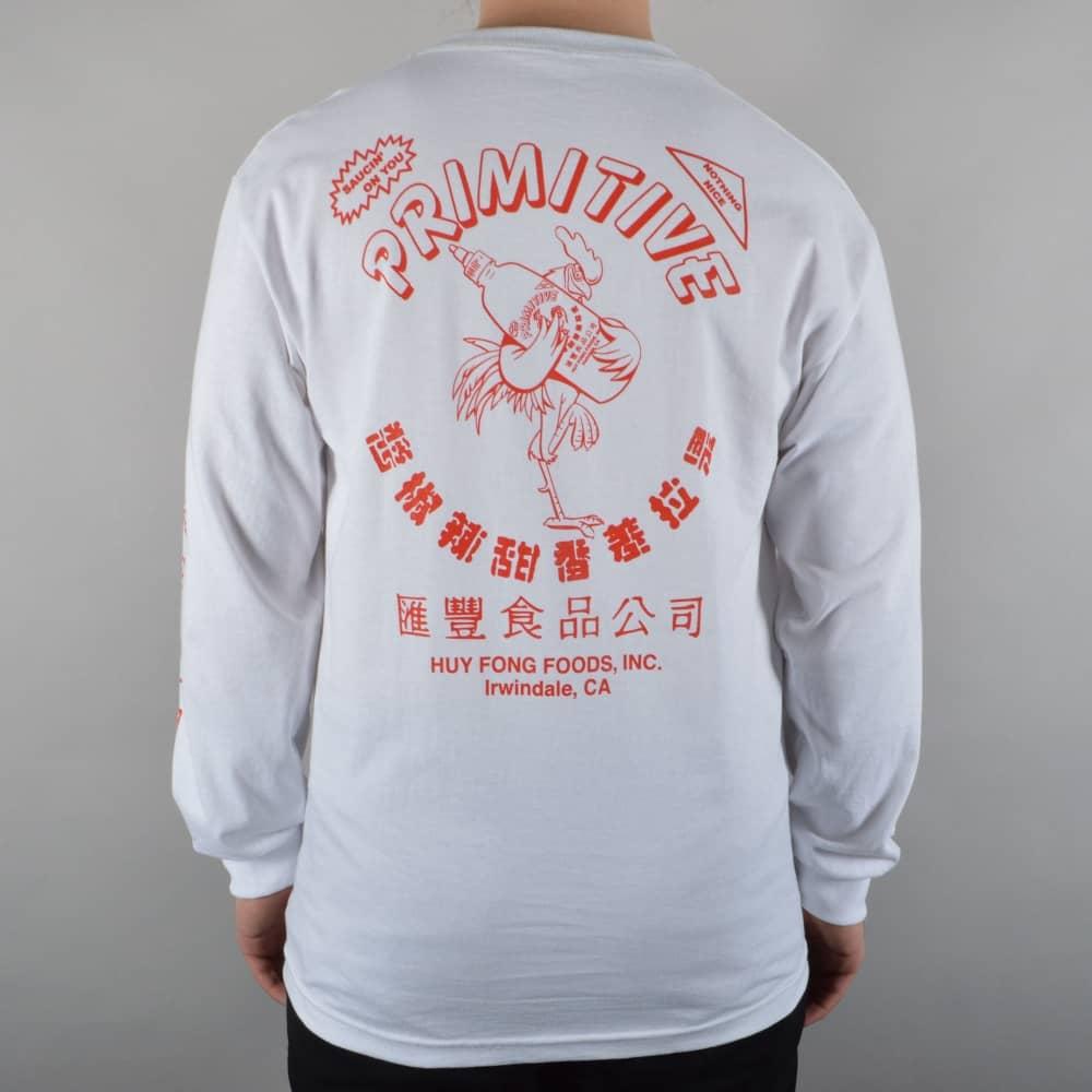 Primitive Apparel x Huy Fong Foods Longsleeve Skate T-Shirt - White ... 84944aa7a711