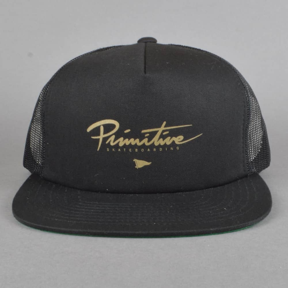 Primitive Skateboarding Core Logo Foam Trucker Cap - Black - SKATE ... 6078199bd0d