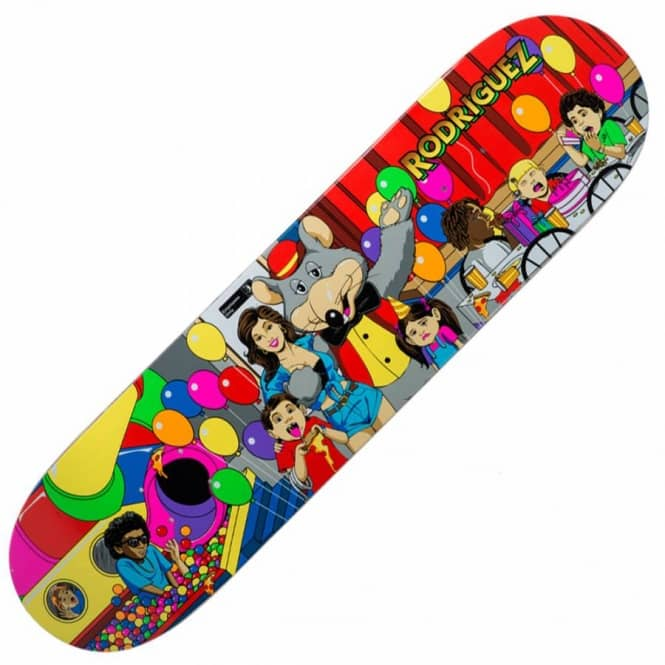 Primitive Skateboarding Paul Rodriguez Pizza Party Skateboard Deck 8.1''