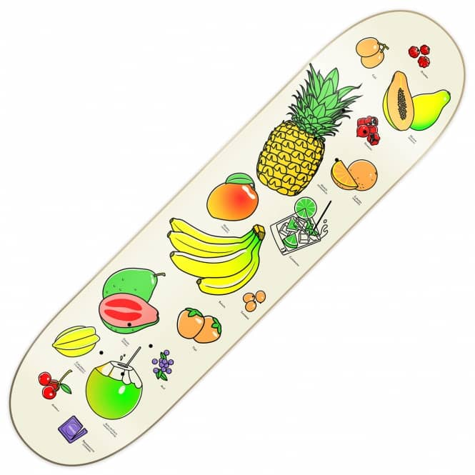 Primitive Skateboarding Ribeiro Fruit Party Skateboard Deck 8.1