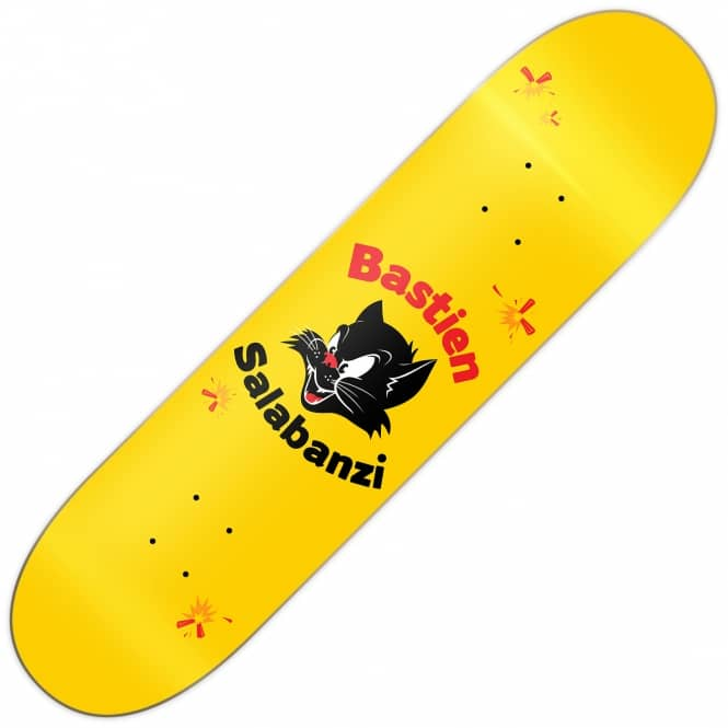 Primitive Skateboarding Salabanzi Black Cat Skateboard Deck 8.0