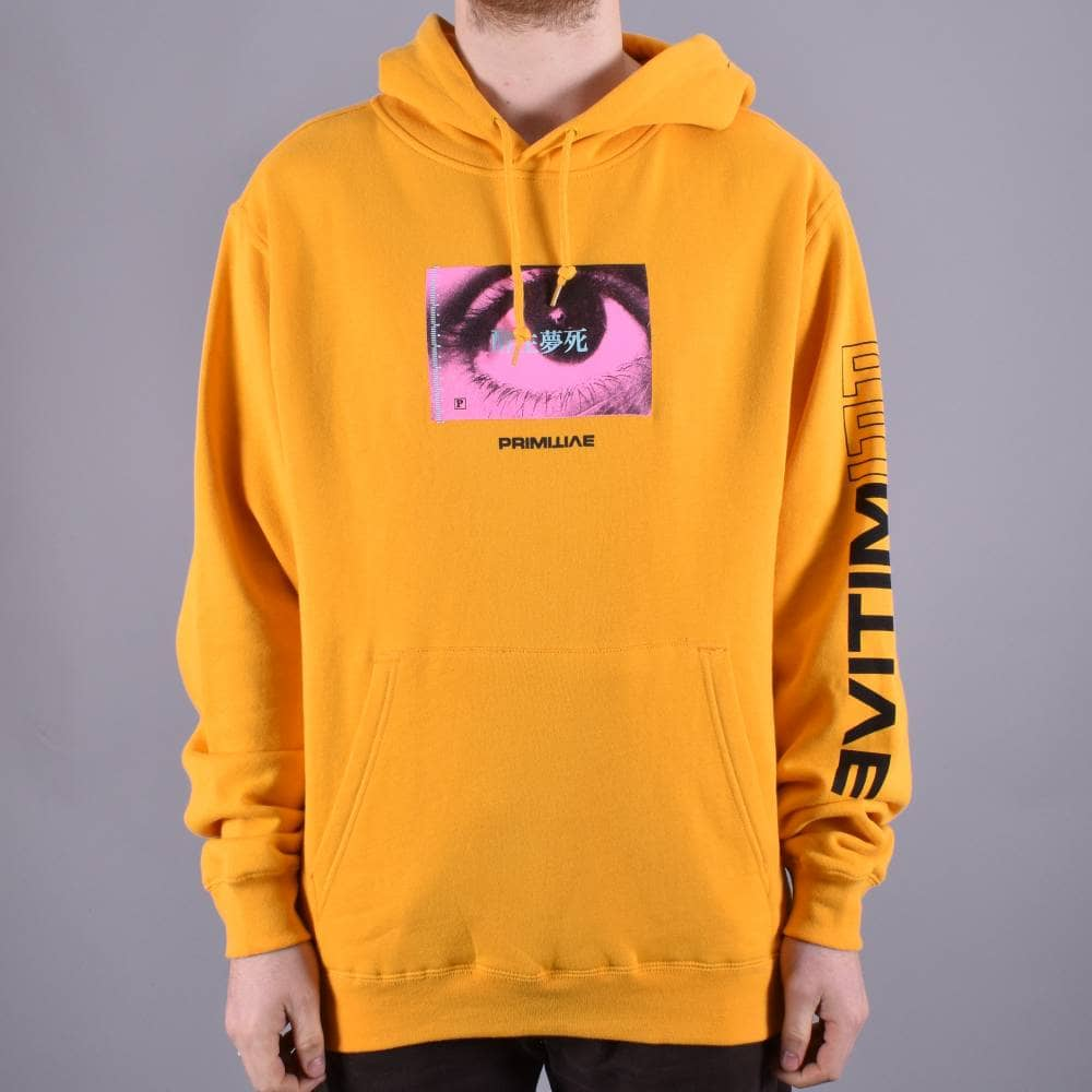 Hood Yellow Primitive Stare Skateboarding Skate Pullover fwwqtn1a4A