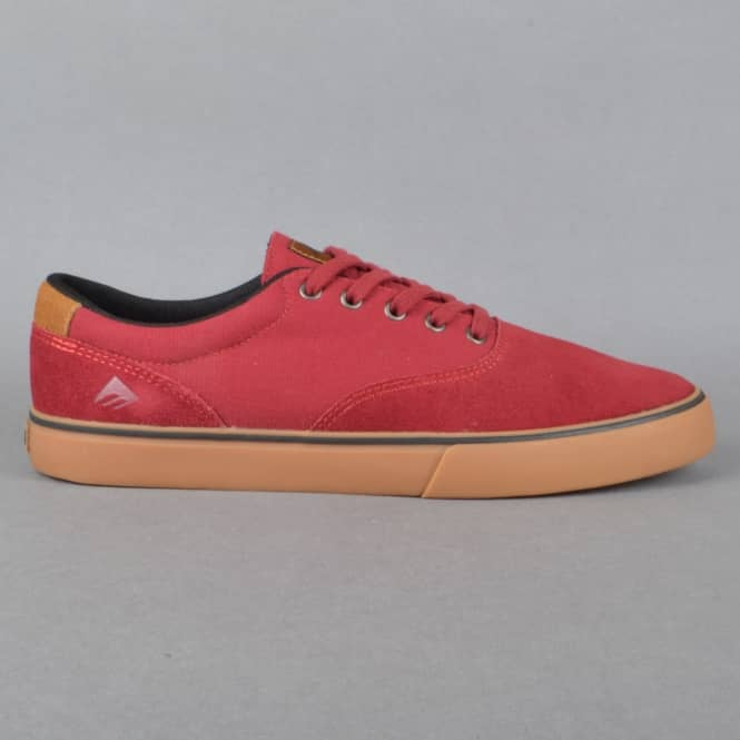 Emerica Provost Slim Vulc Skate Shoes - Burgundy/Gum