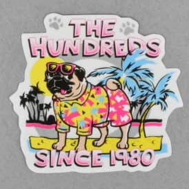 Pug Beach Skateboard Sticker