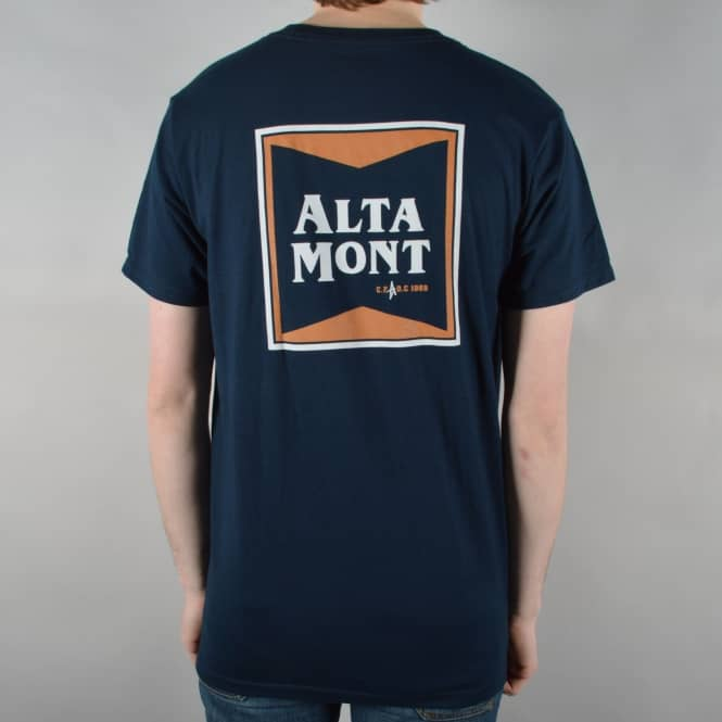 Altamont Pulp Stacked T-Shirt - Navy
