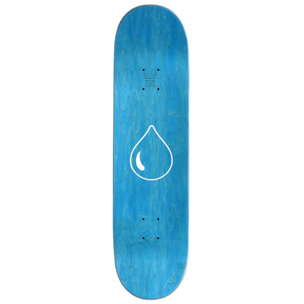 f717be96d6b3 Quasi Skateboards Bledsoe Drip Yellow Skateboard Deck 8.5 ...