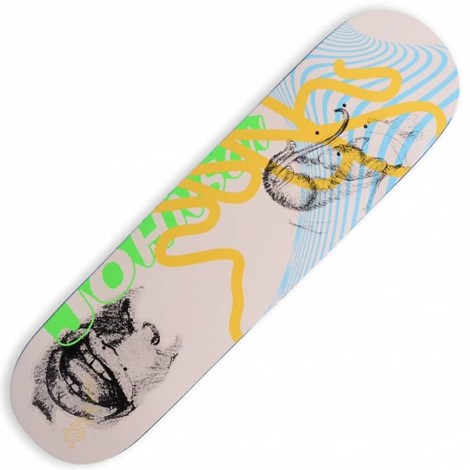 Quasi Skateboards Jake Johnson Sketch Peach Skateboard Deck 8.5