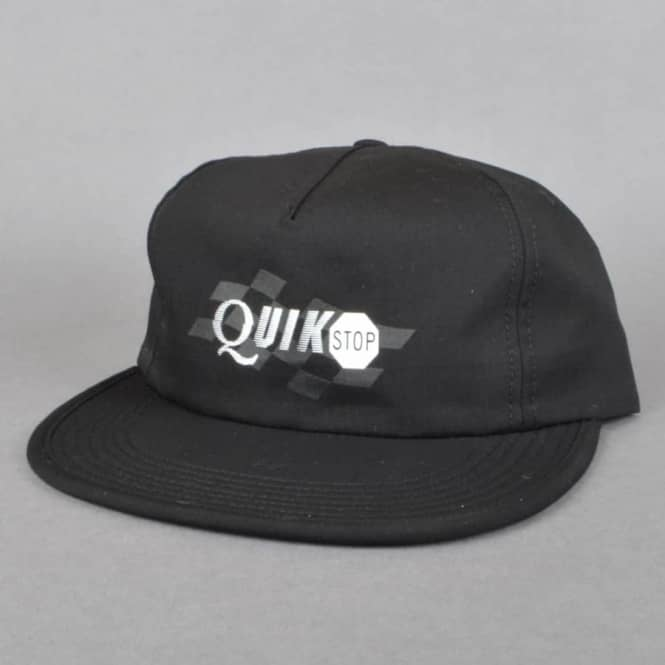 Quasi Skateboards Quikstop Unstructured Snapback Cap - Black - SKATE ... 7b704de0e746