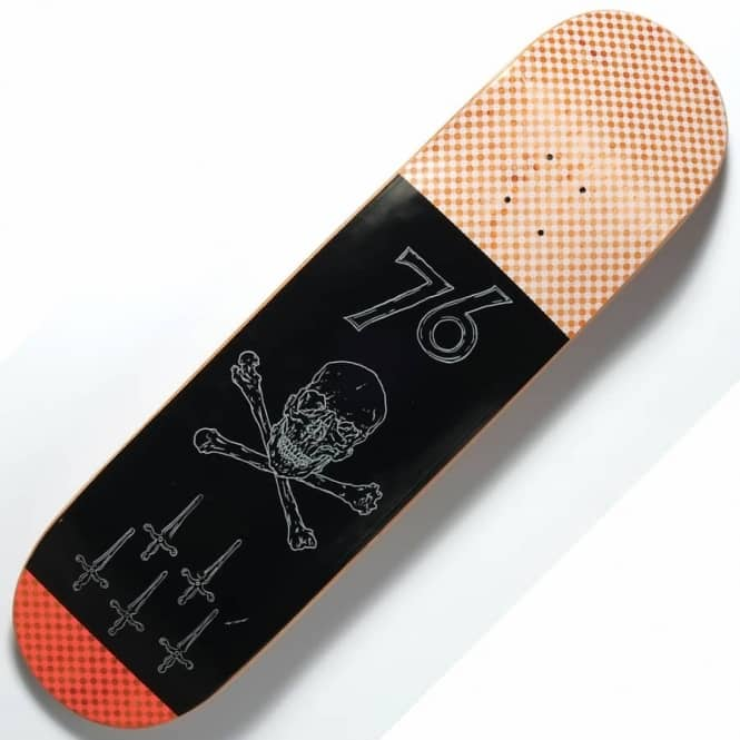 Quasi Skateboards Skully 2 Orange Skateboard Deck 8.5