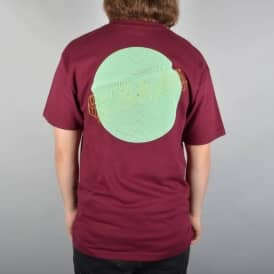 Wired Skate T-Shirt - Burgundy