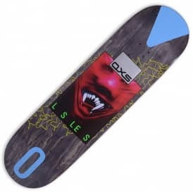 QXS Black Stain Skateboard Deck 8.375