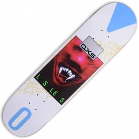 QXS White Skateboard Deck 8.125